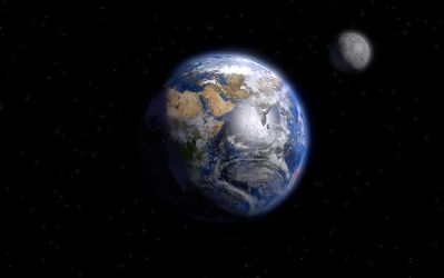 Planet Earth and his friend by McZlik