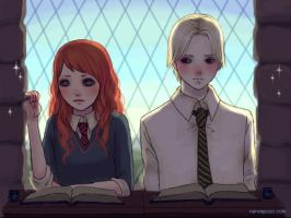 Scorpius and Rose at class by keerakeera