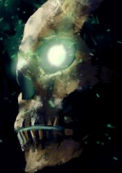Haunted skull by Zionell