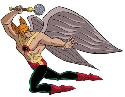 How To Draw DC Heroes - Hawkman by TimLevins