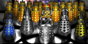 10Days of Doctor Who Challenge:Davros /The Daleks by ElementalAngel