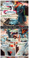 How to Attach Open Pegasus Wings to a Pony Plushie by equinepalette