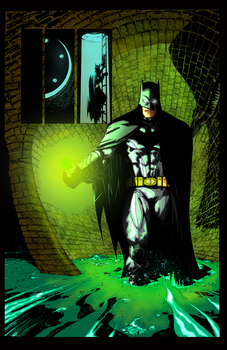 Capullo-Batman-inked-by-Splotchy77 Colored By Rick by rtterry3225