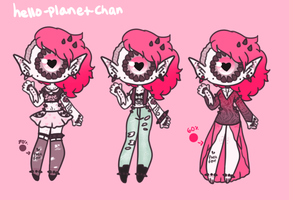 [adopt extra] - Pink Punk Queen by hello-planet-chan