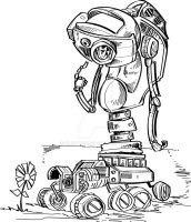 Robot and Flower by kluyten