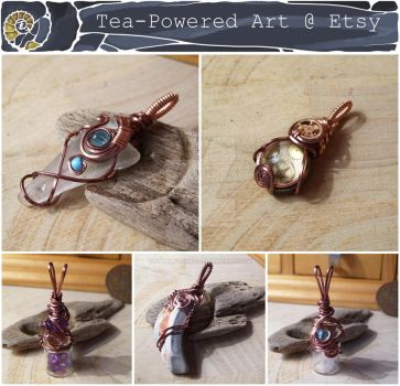 Wire Wrapped Pendants- Etsy Shopfill 22/10/16 by Swirlything
