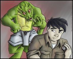 Shendu and Jackie Chan by o0NeonCola0o