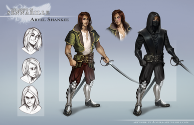 Arvel - character reference by AonikaArt