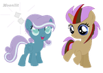 CUSTOM: NyxDrop and TwilightWhooves by Moonlit-Gem-Adopts