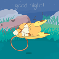 Pokemon Sun and Moon - Sleeping Raichu by chocomiru02
