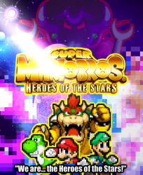 Super Mario Bros: Heroes of the Stars Poster by FlamingInfernoX