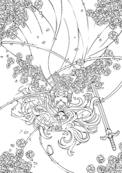 Gothic Bride Lineart ::THANK U 4 200K FAVES:: by YamPuff