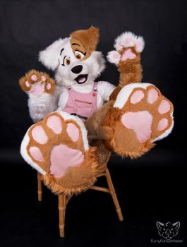 Paws up, puppy by FurryFursuitMaker