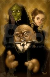 Vastra, Jenny and Strax by jonpinto