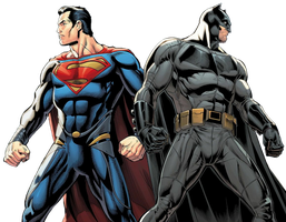 Black and Blue - Batman and Superman (BvS Ver.) by TheGothamGuardian