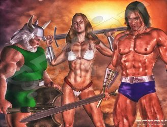 Golden Axe Protagonists by giumabei