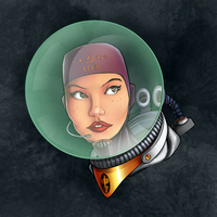 Cosmonaut Space Girl by SarahPerryman
