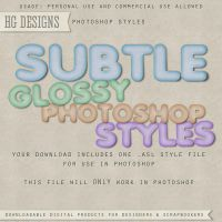 PS Style: Subtle Glossy by HGGraphicDesigns