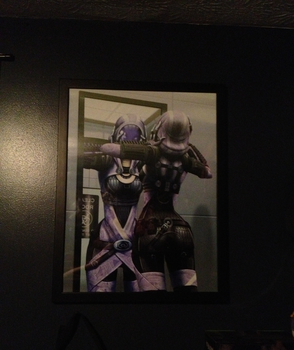 Tali'Zorah Framed Picture by zeaig