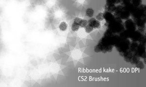 Ribboned Kake - PS Brushes by screentones