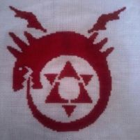 Ouroboros Cross Stitch by TheSkandranon