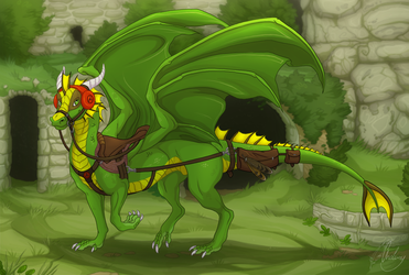 Commission - Green green green by Chaluny