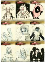 Marvel Sketch Cards A by junon