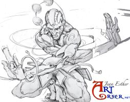 meta dhalsim pencils by Jesther101