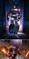 ORION PAX TO OPTIMUS PRIME by manbu1977