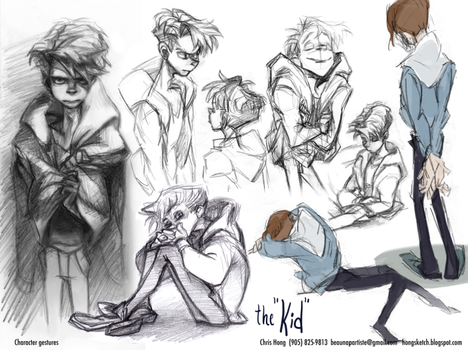 The Kid - pose sheet#1 by kimchii