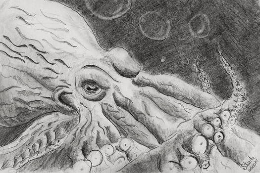 Giant octopus by SulaimanDoodle