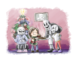 Undertale - Christmas cookies by the-Adventurer-0815