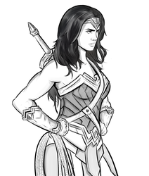 Wonder woman by OverlordLhama