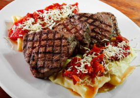 Sorrentinos and Filet by gescosteguy