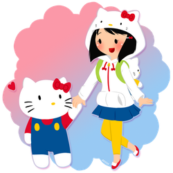 Hello Kitty and Fan by Abie05