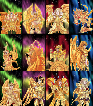 Gold saints in Soul of Gold by UnicaGem