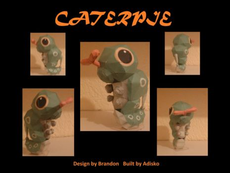 Pokemon PaperCrafts Caterpie by Adisko