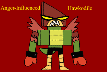 UNKY - Anger-Influenced Hawkodile by worldofcaitlyn