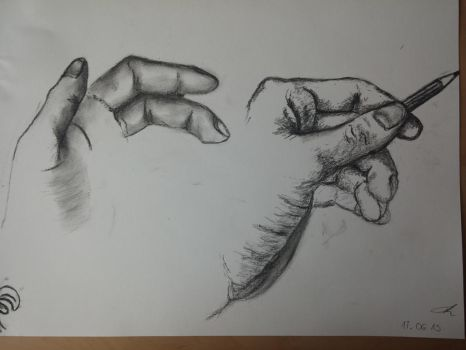 Hands 6 charcoal by Nekroseth