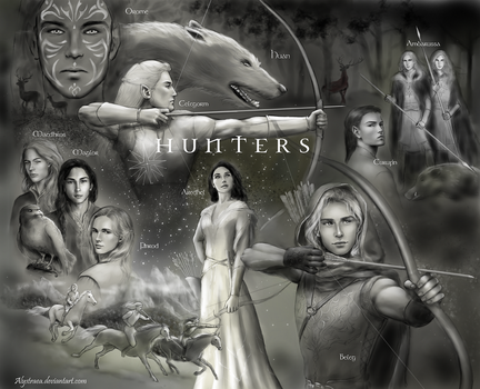 Elven Hunters of Beleriand (WIP) by annamare
