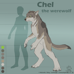 Chel the Werewolf- Reference (Shifted Form) by CanineHybrid