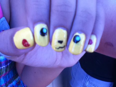 Pikachu nails by dreamerXD