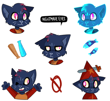 Mae Borowski Night In The Woods Sticker Sheet by cometcrumbs
