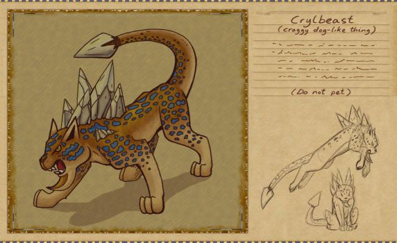 Bestiary Project - Crylbeast by Sharulia
