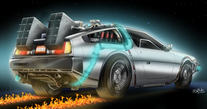 The DeLorean Time Machine by ElitaOneArts