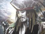 Colored Up Jack Sparrow by corysmithart