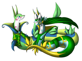 Snide Serperior and Becca Serperior