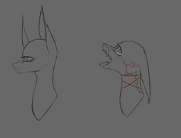 2 Ych Headshots  by thunderstorm210