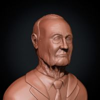Old Man Bust by PixelPirate