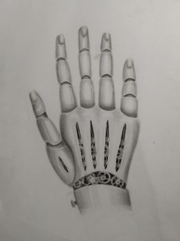Mechanical Stempunk hand (practice) by TurquoiseThought
